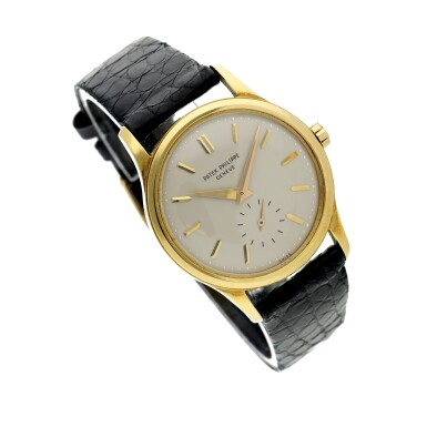 View 3. Thumbnail of Lot 233. Reference 3439  A yellow gold automatic wristwatch, Made in 1961.