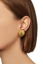 TWO PAIRS OF GOLD EARCLIPS, DAVID WEBB