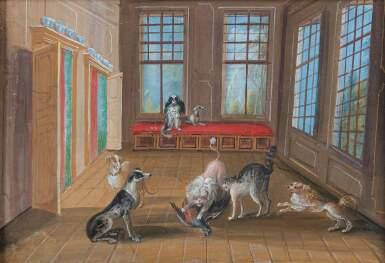 19TH CENTURY SCHOOL [ECOLE DU XIXE SIÈCLE]   THE BIRD HUNT [CHASSE À L'OISEAU]