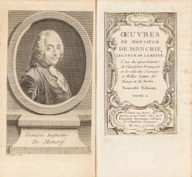 View 3. Thumbnail of Lot 94. Théâtre espagnol et Oeuvres de Moncrif. Des bibliothèques de la comtesse de Provence et de Jules Janin.