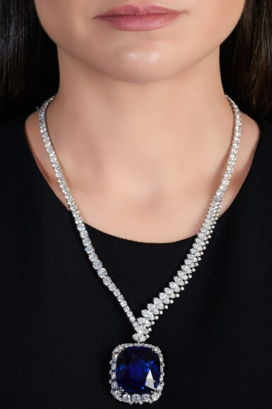 View 6. Thumbnail of Lot 178. Harry Winston | Exceptional and important sapphire and diamond necklace | 海瑞溫斯頓 | 藍寶石配鑽石項鏈.
