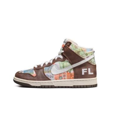 View 4. Thumbnail of Lot 1. Leonard Hilton McGurr 'Futura' | Nike Dunk High Pro SB 'FLOM' | Size 8.