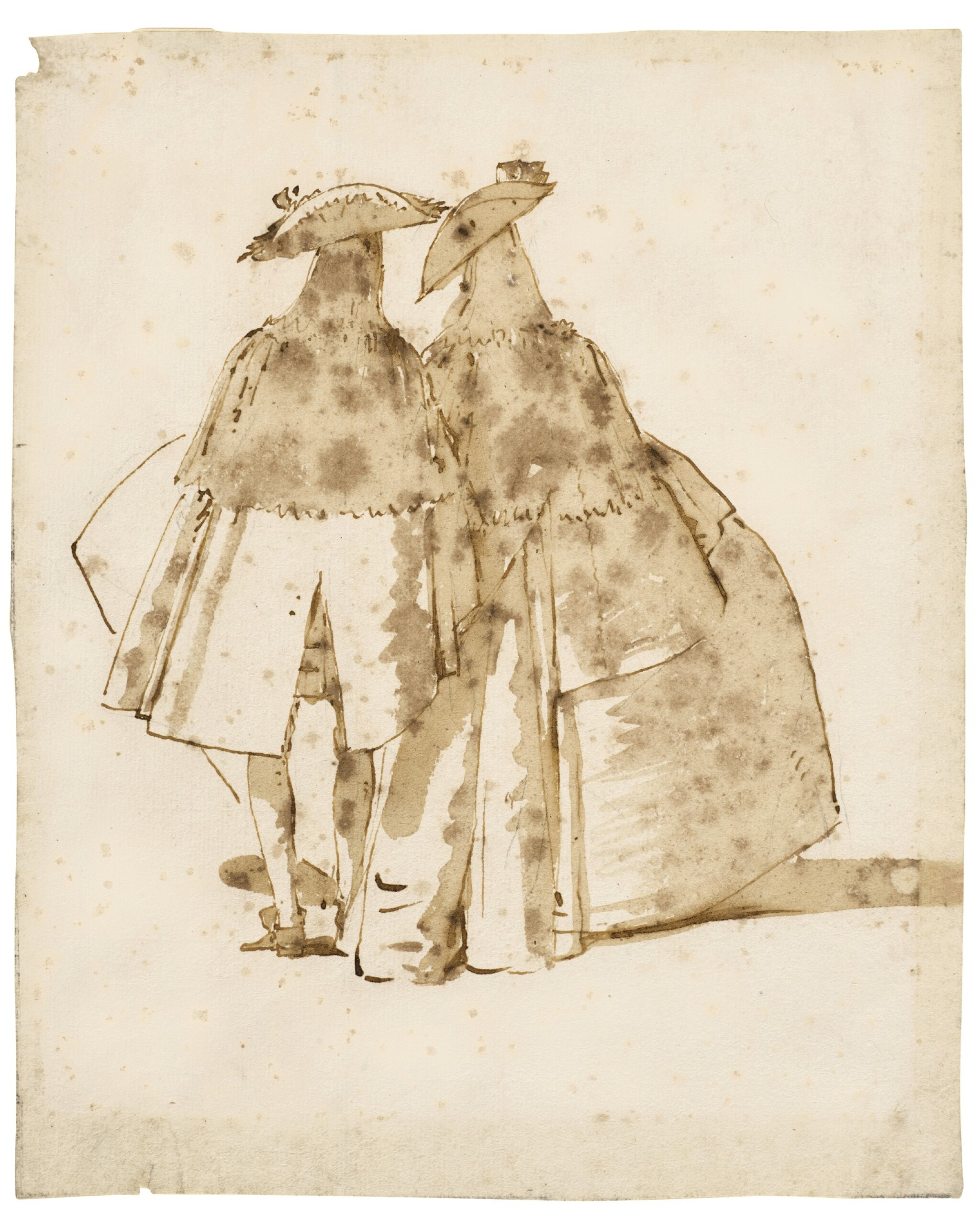 A Venetian Couple Seen from Behind, at Festival