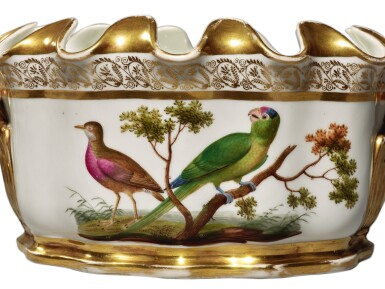 View 3. Thumbnail of Lot 271. A PAIR OF PARIS PORCELAIN NAPLES-DECORATED ORNITHOLOGICAL-SUBJECT MONTEITHS, CIRCA 1820.