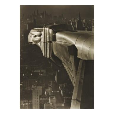 View 1. Thumbnail of Lot 137. MARGARET BOURKE-WHITE   'GARGOYLE, CHRYSLER BUILDING, N. Y. C.'.