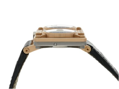 View 4. Thumbnail of Lot 92. MB&F | REF 20.DRRT HOROLOGICAL MACHINE NO.2, A LARGE LIMITED EDITION TITANIUM AND PINK GOLD RECTANGULAR DOUBLE DIALED AUTOMATIC WRISTWATCH WITH JUMPING HOURS, RETROGRADE MINUTES AND DATE, AND MOON PHASES CIRCA 2010.