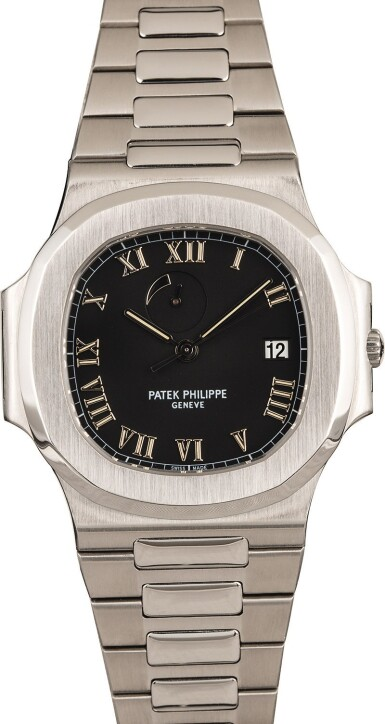 View 2. Thumbnail of Lot 17. PATEK PHILIPPE | Nautilus, Ref. 3710/1A, A Stainless Steel Wristwatch with Integrated Bracelet and Power Reserve Indicator, Circa early 2000s.