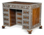 AN ANGLO-INDIAN IVORY INLAID ROSEWOOD WRITING OR DRESSING TABLE, VIZAGAPATAM, MID-18TH CENTURY