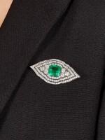 CARTIER | ART DECO EMERALD AND DIAMOND BROOCH| 卡地亞 | Art Deco 11.13卡拉「哥倫比亞」無油祖母綠 配 鑽石 胸針