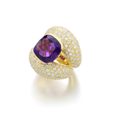 View 2. Thumbnail of Lot 3. MICHELE DELLA VALLE | AMETHYST AND DIAMOND RING.