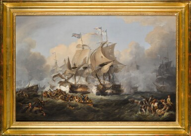 View 2. Thumbnail of Lot 177. The Battle of the First of June, 1794 (After Philip De Loutherbourg).