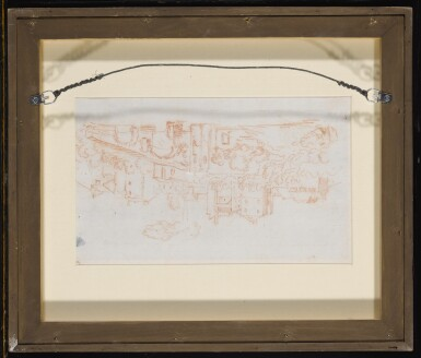 View 6. Thumbnail of Lot 129. Recto and Verso: A View Along the River Tiber.