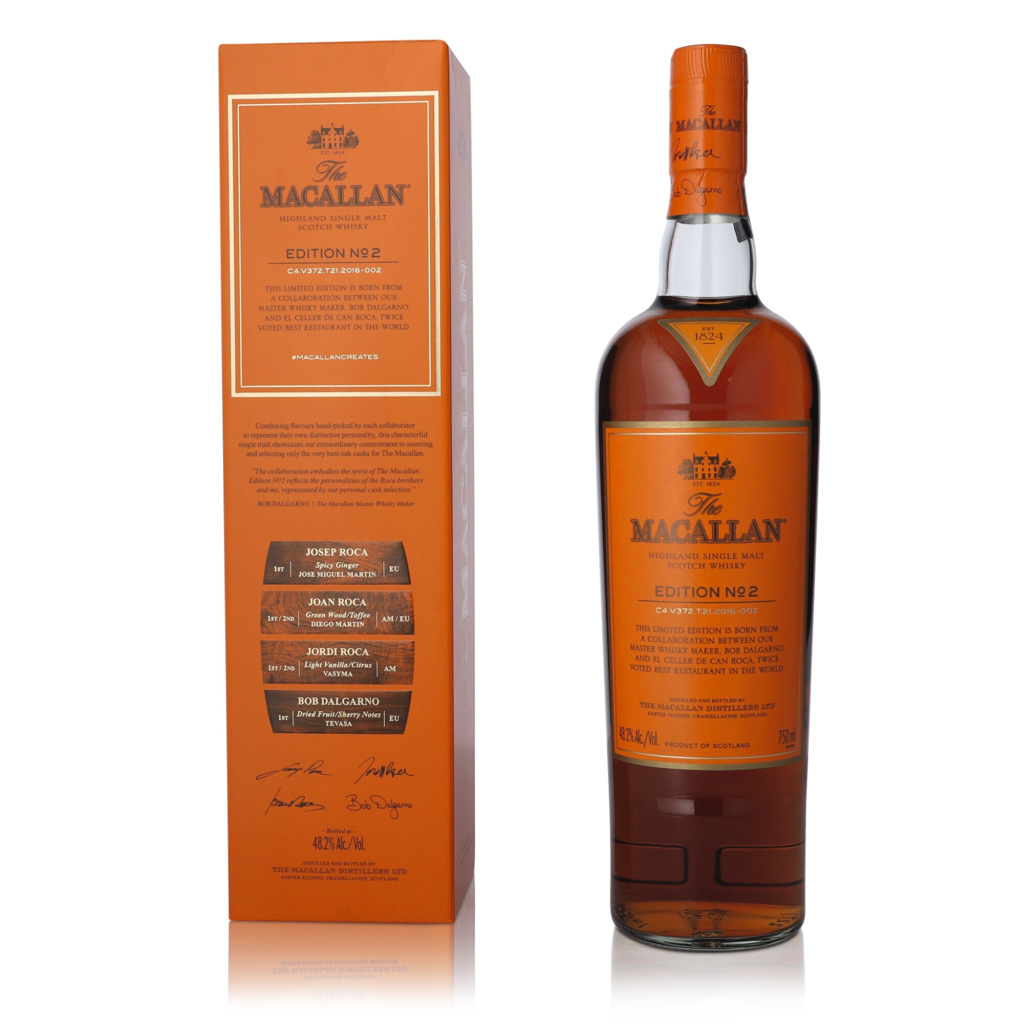 View full screen - View 1 of Lot 48. The Macallan Edition No.2 48.2 abv NV (1 BT75).