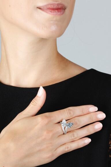 View 5. Thumbnail of Lot 340. IMPORTANT FANCY INTENSE BLUE DIAMOND RING, 'DUET', SOTHEBY'S DIAMONDS.