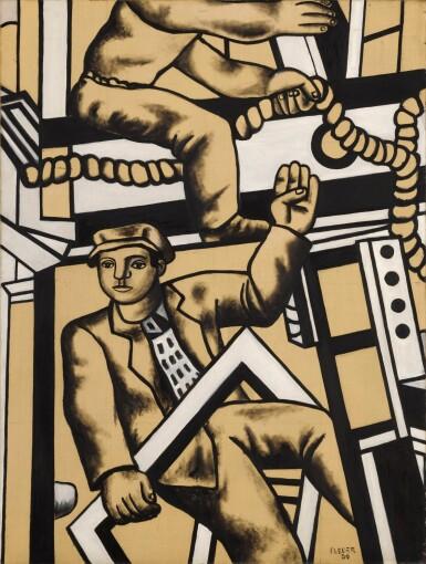 View 1. Thumbnail of Lot 106. Étude pour les constructeurs | 《建築工人習作》.