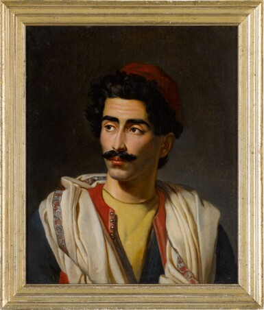 "View 3. Thumbnail of Lot 124. Portrait of a man in a red hat, said to be a ""jeune Grec"" or possibly Hassan el Berberi."