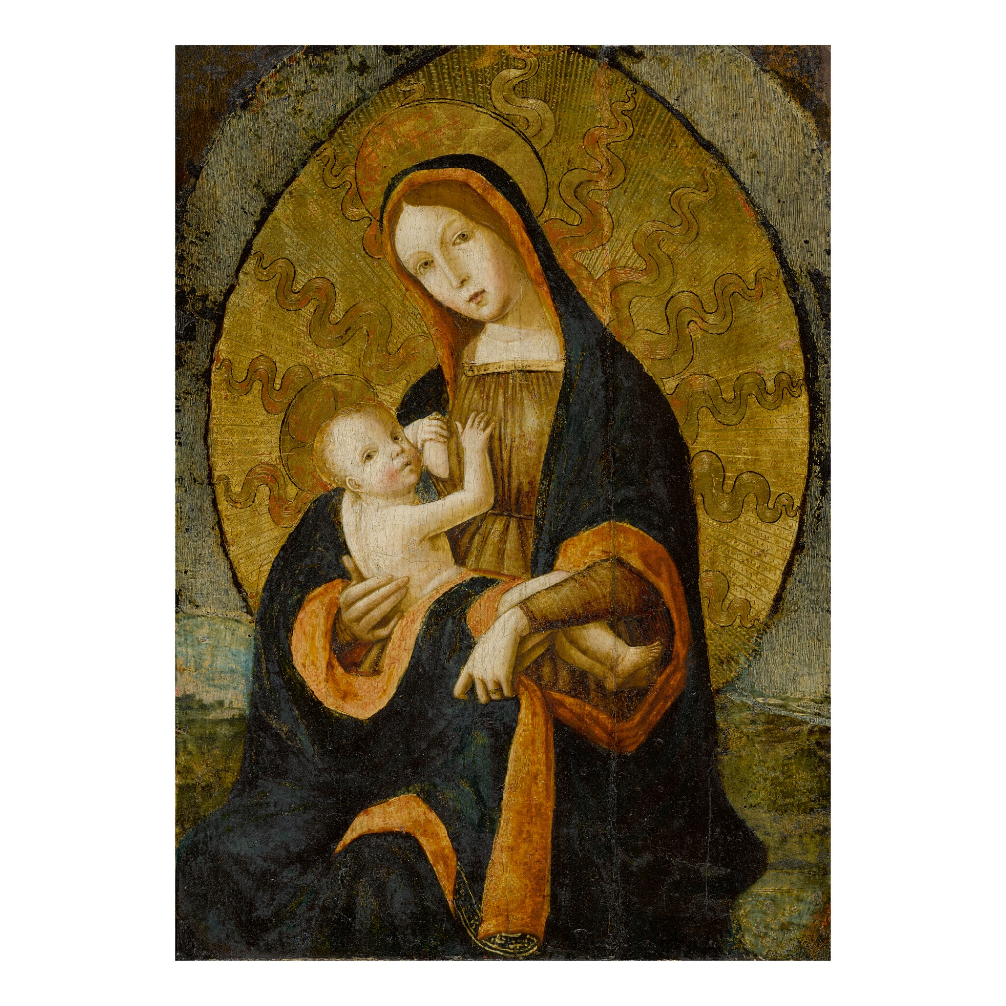 View full screen - View 1 of Lot 37. NORTH ITALIAN SCHOOL, CIRCA 1500-1520 | MADONNA AND CHILD.