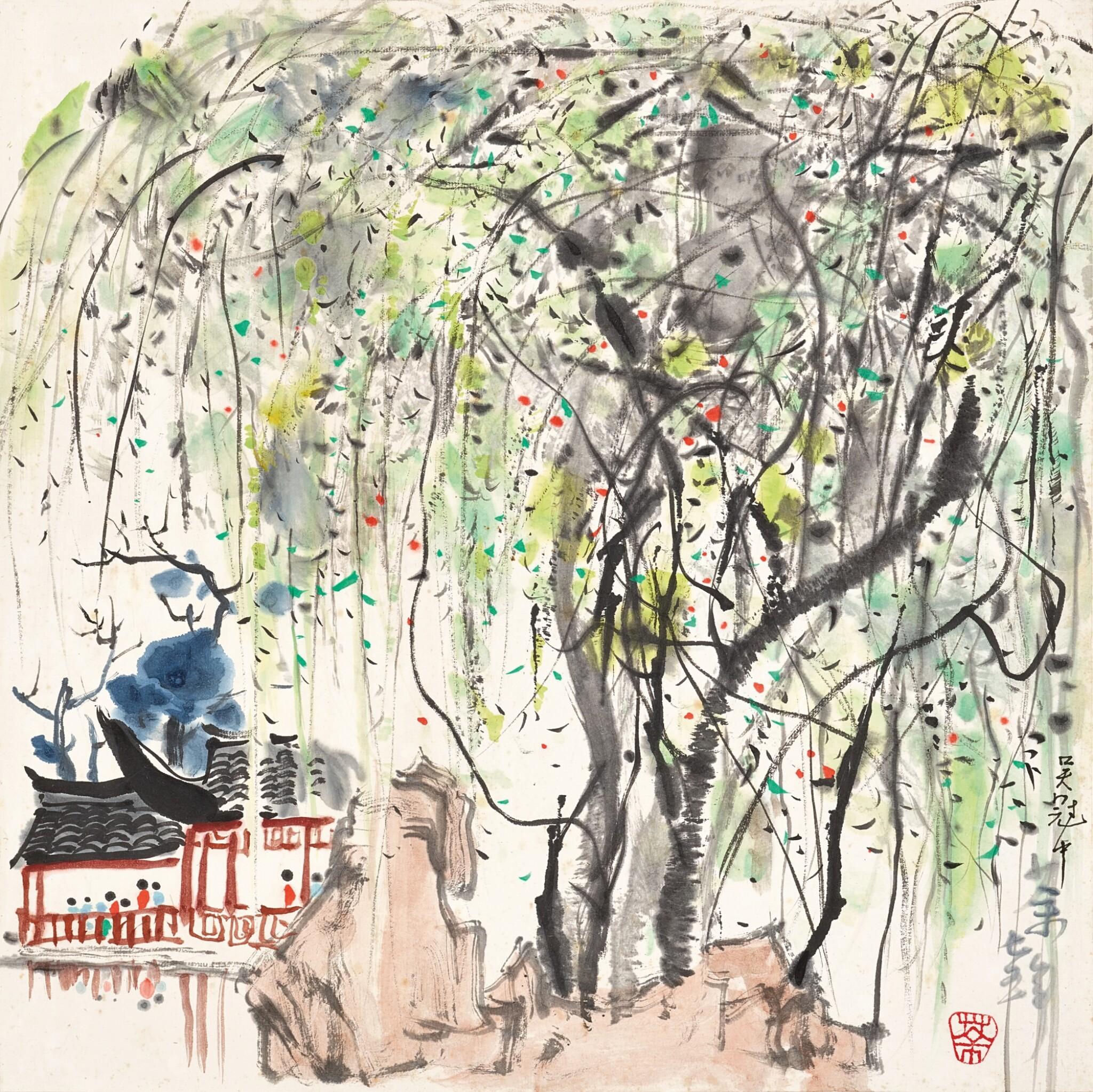 View full screen - View 1 of Lot 2517. Wu Guanzhong 吳冠中 | A Garden in Suzhou 蘇州園林.