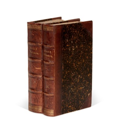 View 6. Thumbnail of Lot 3. Bolyai   Scientiam spatii absolute veram exhibens, Maros Vásárhelyi, 1832-1833, 2 volumes, half calf.