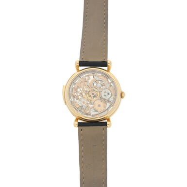 View 5. Thumbnail of Lot 182. REFERENCE 30030 A PINK GOLD SKELETONIZED MINUTE REPEATING WRISTWATCH, CIRCA 1995.