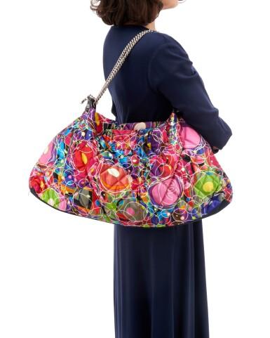 View 5. Thumbnail of Lot 35. 'Kaleidoscope' printed silk shoulder bag.