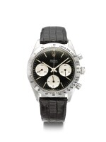 ROLEX | REFERENCE 6239 'DOUBLE SWISS UNDERLINE' DAYTONA  A RARE STAINLESS STEEL CHRONOGRAPH WRISTWATCH WITH REGISTERS, CIRCA 1963