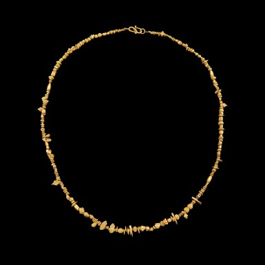 View 2. Thumbnail of Lot 1046. A gold necklace with multi-form beads Pyu, 9th - 11th century | 九至十一世紀 驃國 金珠項鏈.