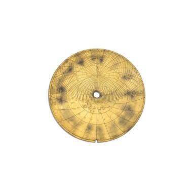 View 10. Thumbnail of Lot 67. A fine Safavid gilt-brass astrolabe made for Imam Mirza Razi al-Din Muhammad Husayni al-Mawsawi (d.1701), signed by Muhammad Husayn ibn Muhammad Baqir al-Yazdi, decorated by Muhammad Mahdi al-Yazdi, Persia, circa 1660.