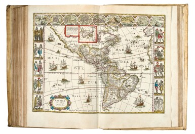 View 6. Thumbnail of Lot 53. BLAEU | Theatrum Orbis Terrarum. Amsterdam, 1640-1654, 5 volumes, folio, contemporary Dutch vellum gilt.
