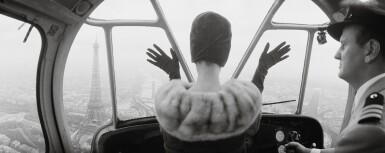 NORMAN PARKINSON | CARDIN HAT OVER PARIS, 1960