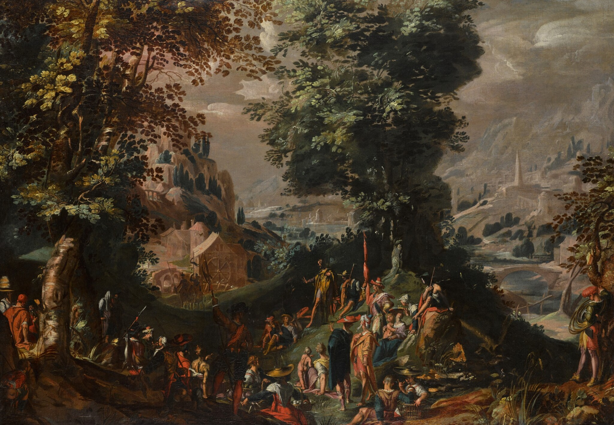 View 1 of Lot 146. Saint John the Baptist preaching to the Multitude.