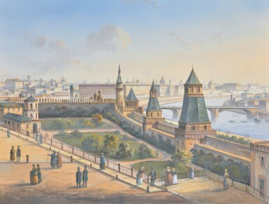 EUROPEAN SCHOOL, 19TH CENTURY   Two Views of Moscow from the Kremlin