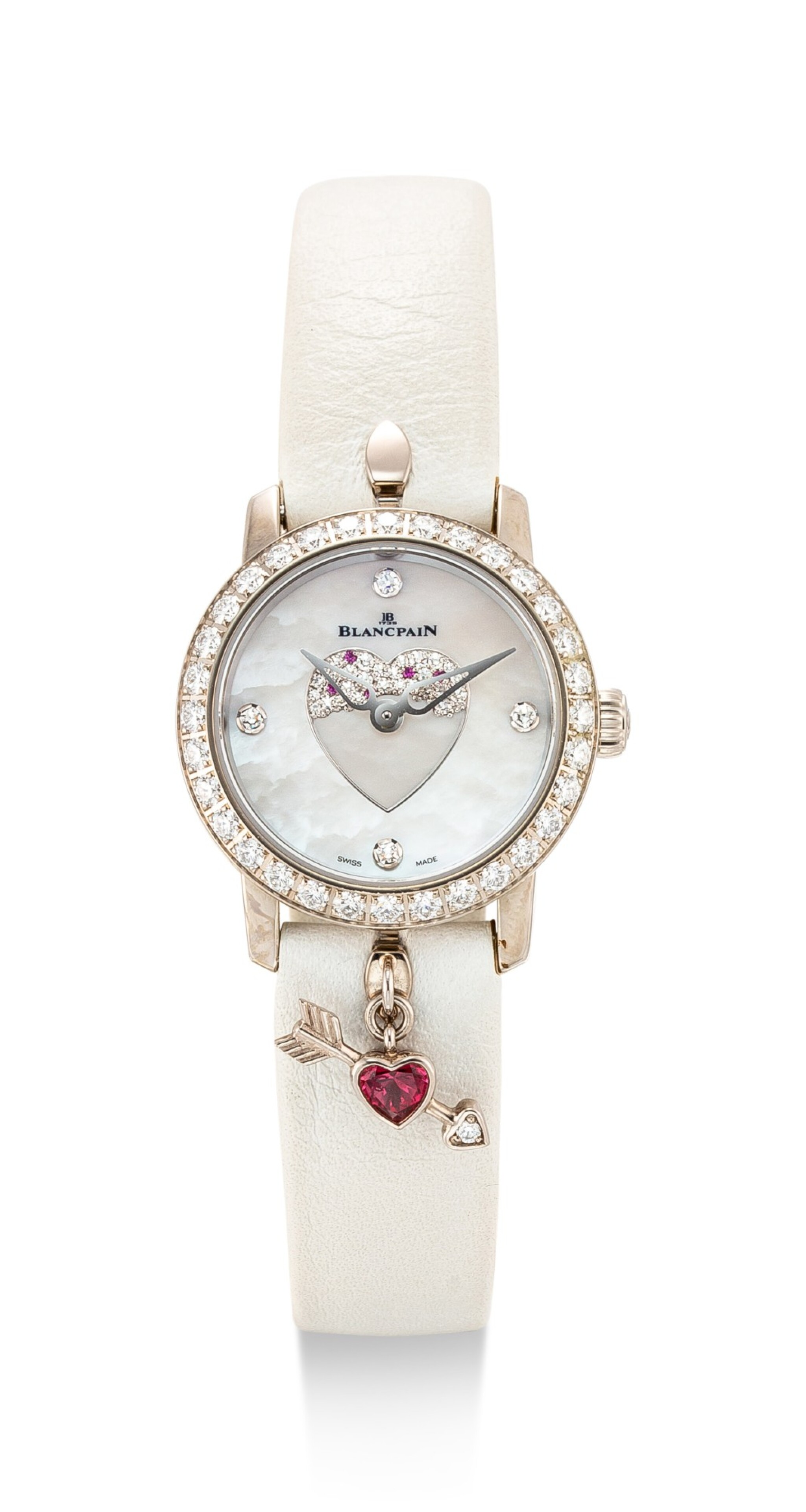 BLANCPAIN | REFERENCE 0063F-1954-63A, A LIMITED EDITION WHITE GOLD, DIAMOND AND RUBY-SET WRISTWATCH WITH MOTHER-OF-PEARL DIAL, CIRCA 2016