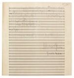 """R. Strauss, Sketchleaf for """"Der Bürger als Edelmann"""", Op.60 (III) and """"Schlagobers"""", Op.70, [1917-1921]"""