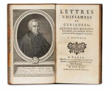 View 4. Thumbnail of Lot 204. COMPAGNIE DE JESUS. Lettres édifiantes... 1717-1776. 34 vol. Ex. aux armes du duc d'Aumont..