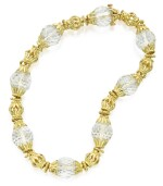 GOLD AND ROCK CRYSTAL NECKLACE, DAVID WEBB