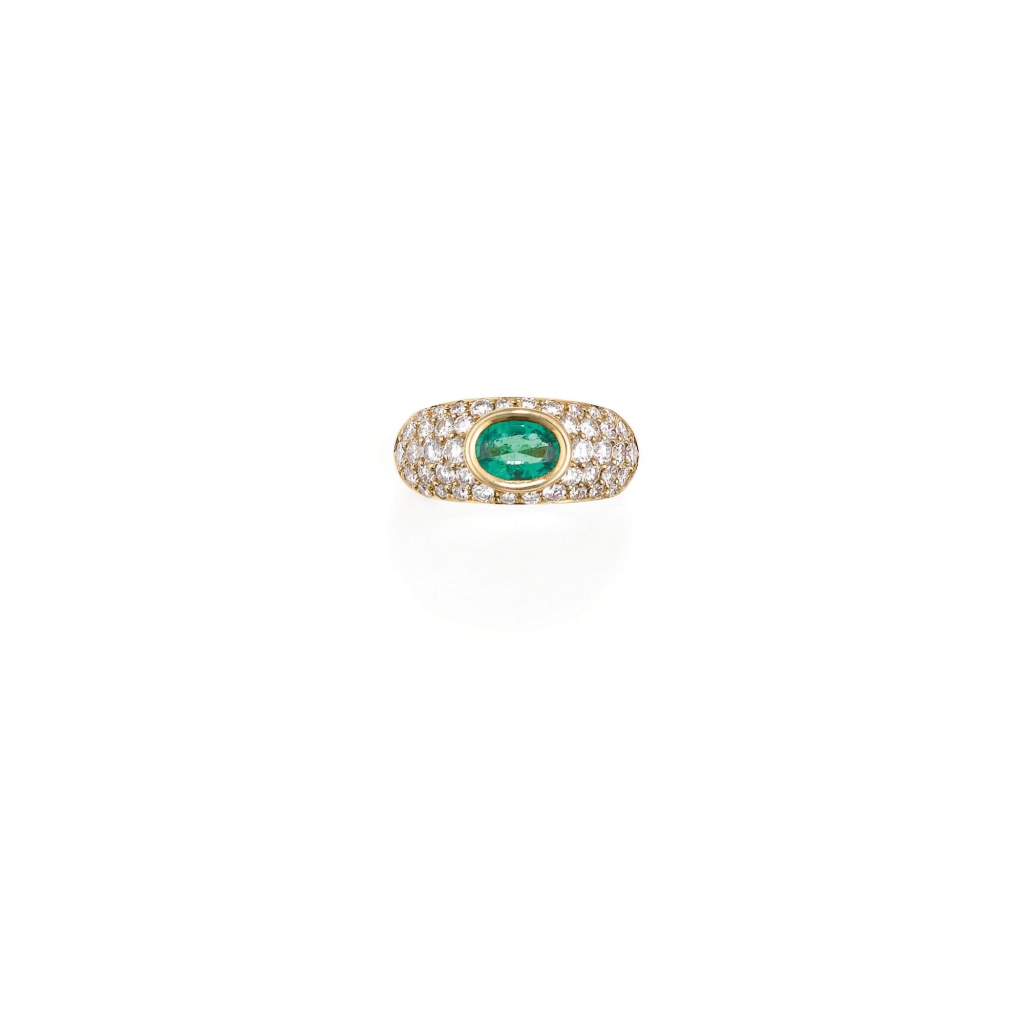 BAGUE EMERAUDE ET DIAMANTS, MELLERIO | EMERALD AND DIAMOND RING, MELLERIO