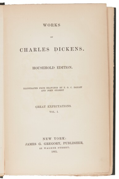 Dickens, Great Expectations, 1861, early American edition