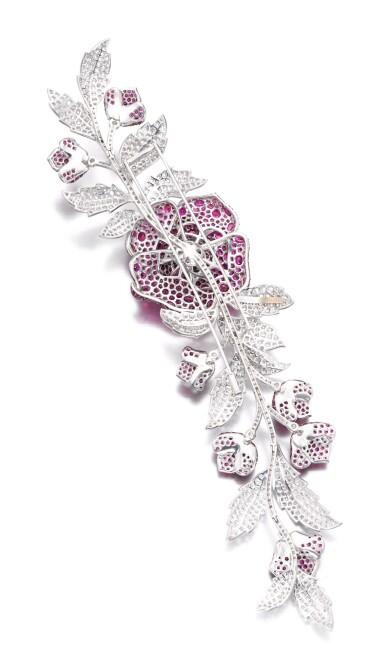 View 3. Thumbnail of Lot 632. Michele della Valle   Ruby and diamond brooch   Michele della Valle   紅寶石配鑽石別針.
