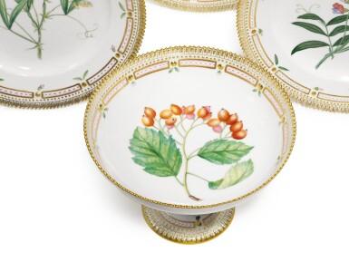View 2. Thumbnail of Lot 87. A Set of Six Royal Copenhagen 'Flora Danica' Dinner Plates, Modern.