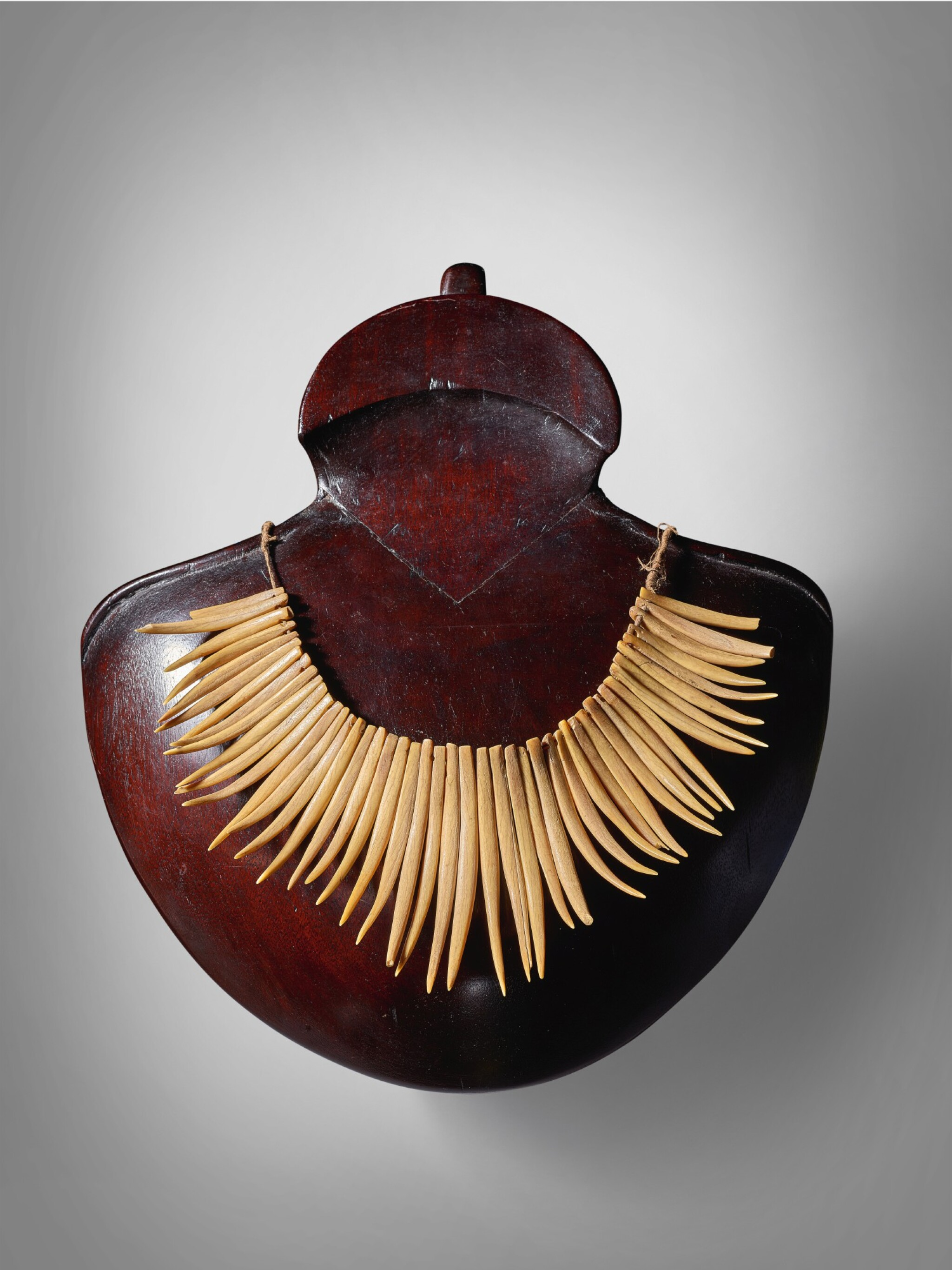 View full screen - View 1 of Lot 20. Whale Tooth Necklace, Fiji.