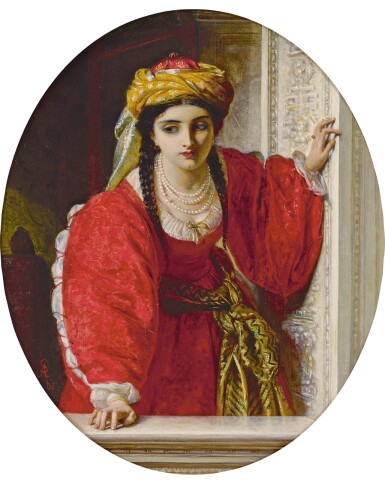 View 1. Thumbnail of Lot 20. ABRAHAM SOLOMON | Juliet at her Balcony.