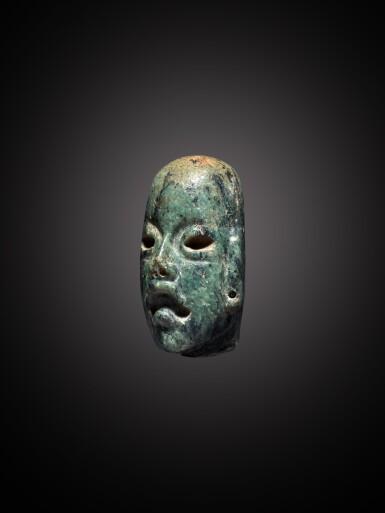 View 2. Thumbnail of Lot 103. Olmec Serpentine Head Middle Preclassic, circa 900 - 300 BC.