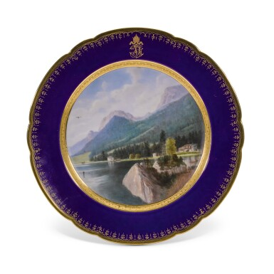 View 4. Thumbnail of Lot 106. An Imperial presentation set of twelve Hutschenreuther porcelain plates, circa 1890.
