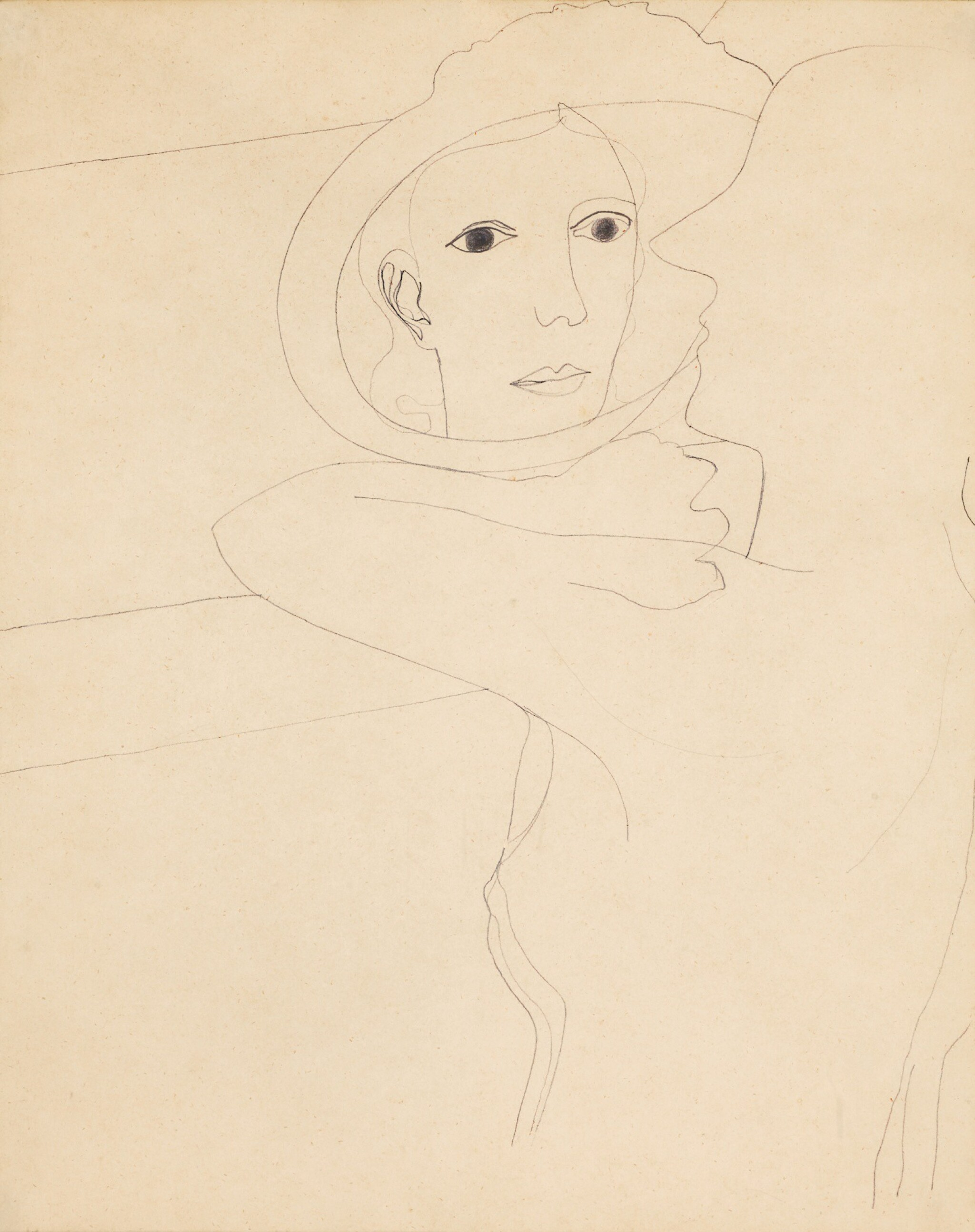 View 1 of Lot 10. BEN NICHOLSON, O.M.  |  1933 (GIRL IN A MIRROR).