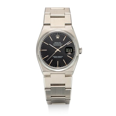 ROLEX   OYSTER QUARTZ DATEJUST, REFERENCE 17000,  A STAINLESS STEEL BRACELET WATCH WITH DATE, CIRCA 1981