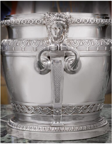 View 2. Thumbnail of Lot 61. AN IMPORTANT PAIR OF WILLIAM III SILVER WINE COOLERS, DAVID WILLAUME, LONDON, 1700.