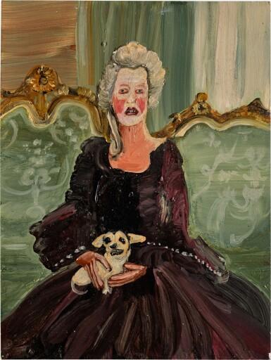 GENIEVE FIGGIS | UNTITLED (LADY WITH A DOG)