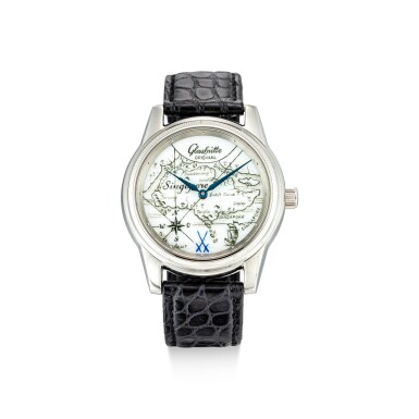 View 1. Thumbnail of Lot 103. GLASHÜTTE   KLASSIK, REFERENCE 49.08.02.02.06 A LIMITED EDITION STAINLESS STEEL WRISTWATCH WITH PORCELAIN DIAL, CIRCA 2005.