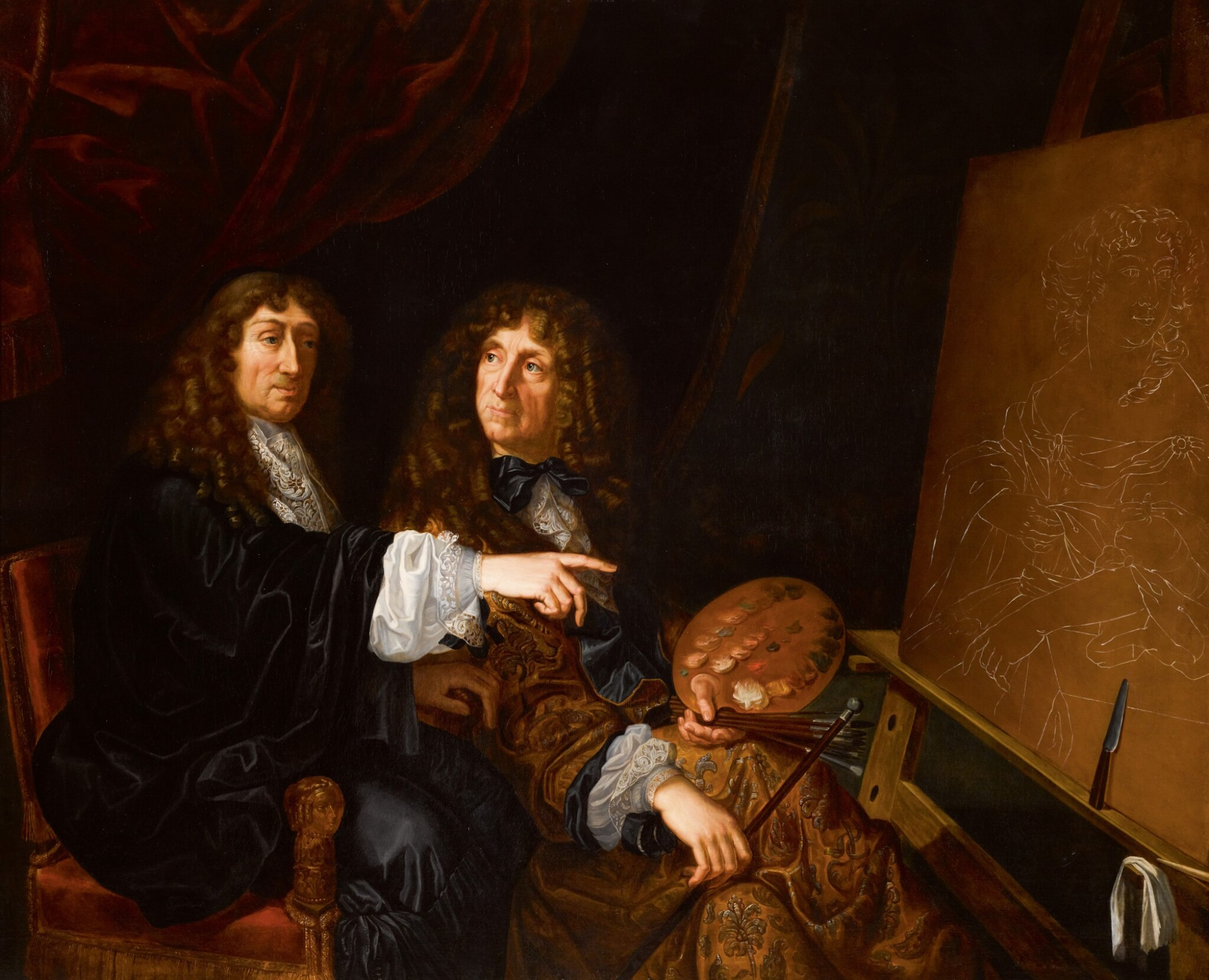 View 1 of Lot 142. Double portrait of Henri (1603-77) and Charles Beaubrun (1604-92).